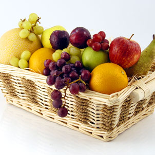 cesta frutas